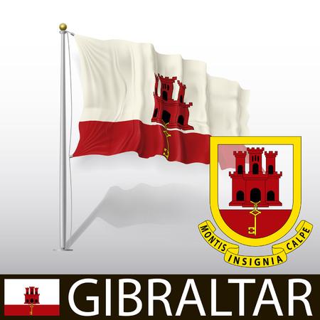 gibraltar: Flag of Gibraltar