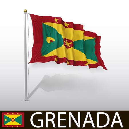 saint george: Flag of Grenada Illustration