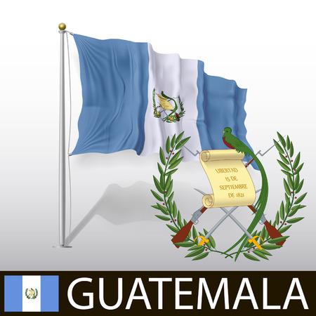 guatemala: Flag of Guatemala Illustration