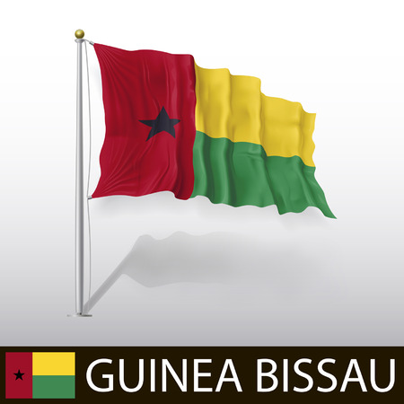 guinea bissau: Flag of Guinea Bissau Illustration
