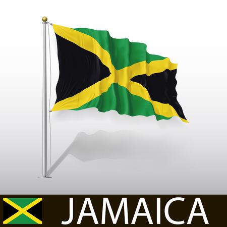 jamaican: Bandera de Jamaica Vectores