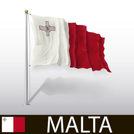 malta: Vlag van Malta