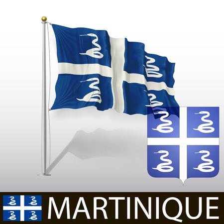 martinique: Flag of Martinique Illustration