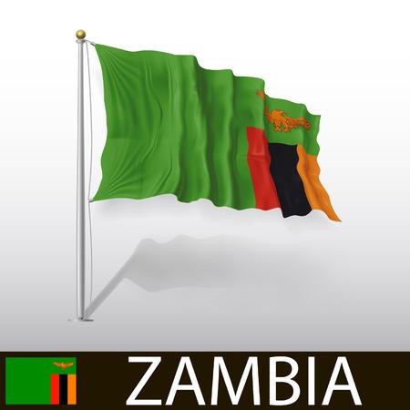 zambia: Flag of Zambia Illustration