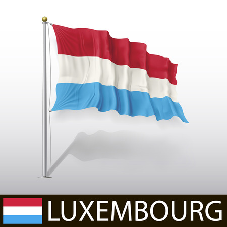 luxembourg: Flag of Luxembourg Illustration