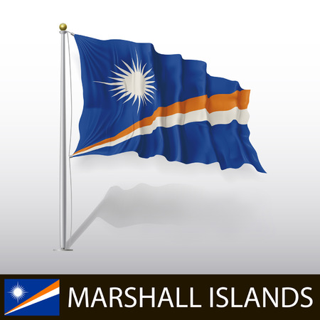 marshall: Flag of Marshall Islands Illustration