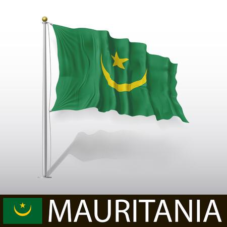 mauritania: Flag of Mauritania