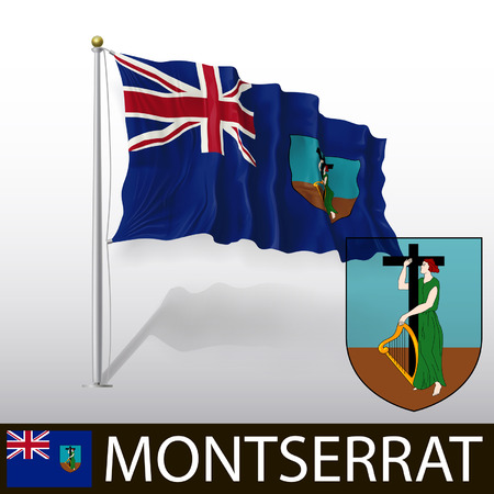 montserrat: Flag of Montserrat Illustration