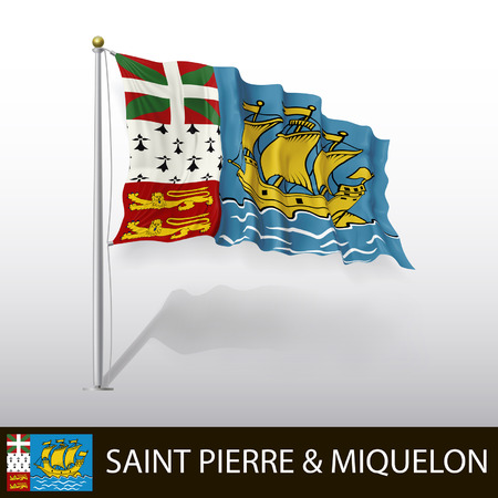 pierre: Flag of Saint Pierre and Miquelon Illustration