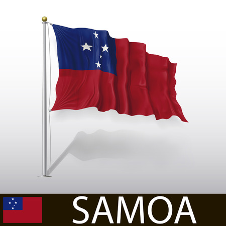 samoa: Flag of Samoa Illustration