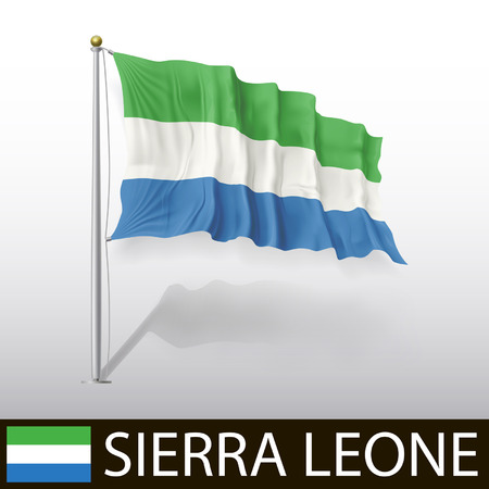 sierra: Flag of Sierra Leone Illustration