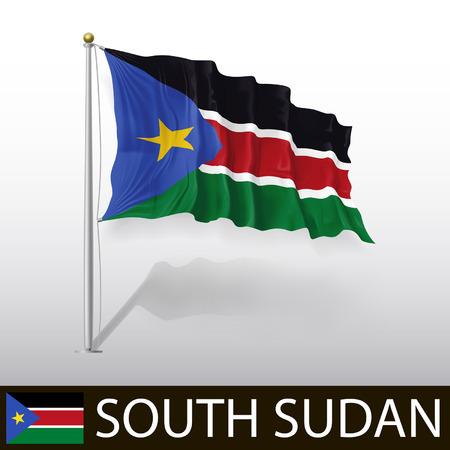 south sudan: Flag of South Sudan Illustration