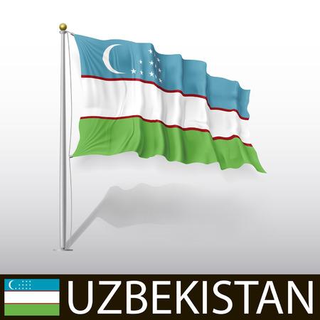 oezbekistan: Vlag van Oezbekistan