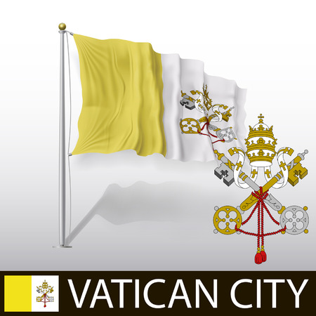 ciudad del vaticano: Bandera de la Ciudad del Vaticano