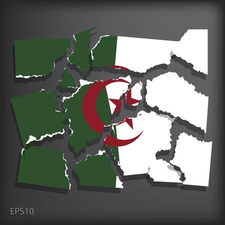 smashed paper: Algeria