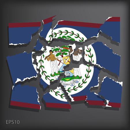 smashed paper: Belize