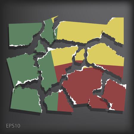 smashed paper: Benin