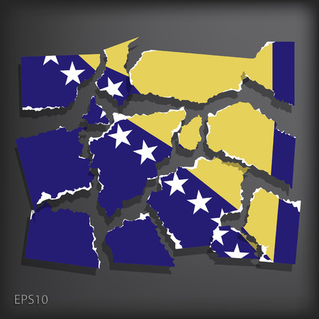 smashed paper: Bosnia and Herzegovin
