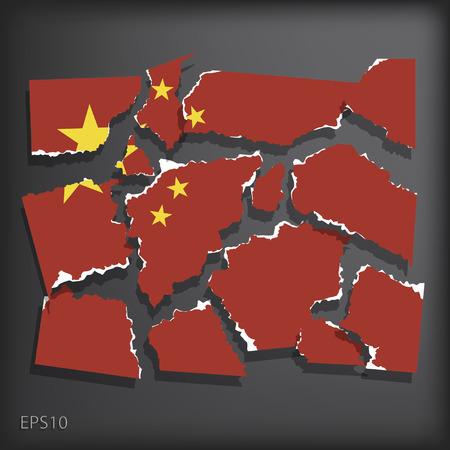 smashed paper: China