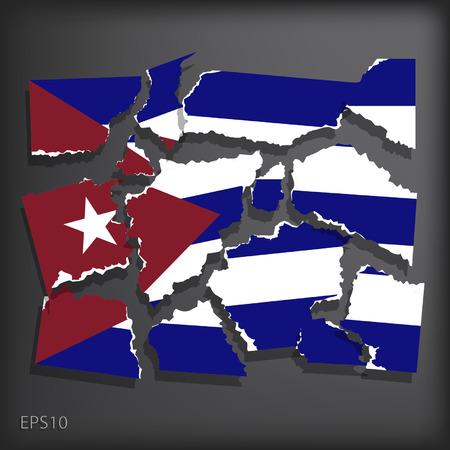 smashed paper: Cuba