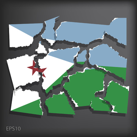 djibouti: Djibouti Illustration