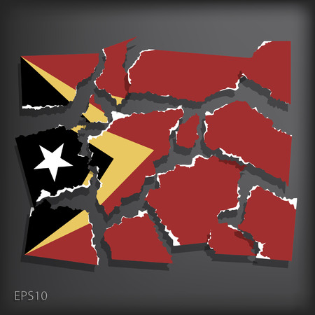 smashed paper: East Timor
