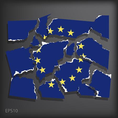 smashed paper: European Union