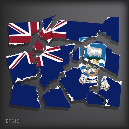 smashed paper: Falkland Islands