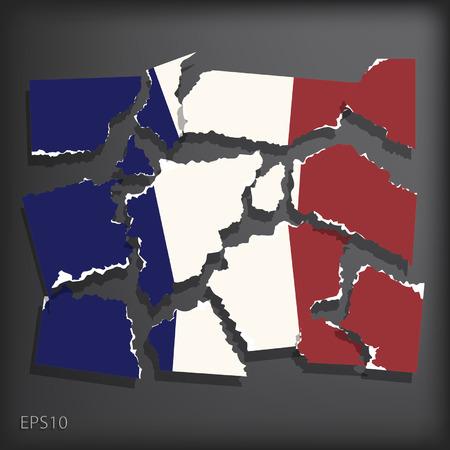 smashed paper: France Illustration