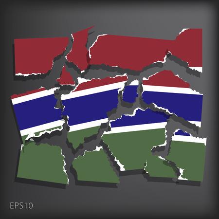gambia: Gambia Illustration
