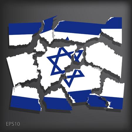 smashed paper: Israel
