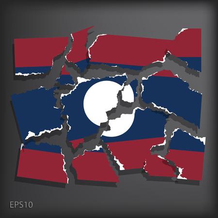 smashed paper: Laos