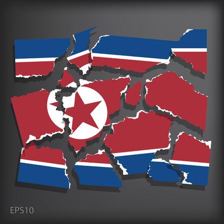 smashed paper: North Korea