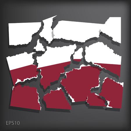 smashed paper: Poland