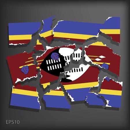 smashed paper: Swaziland