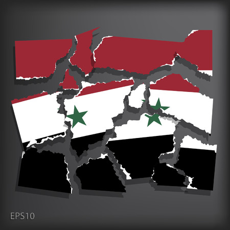 smashed paper: Syria
