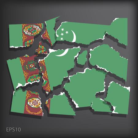 smashed paper: Turkmenistan
