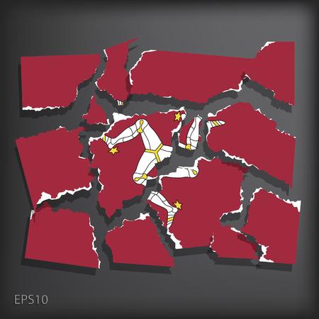 smashed paper: Isle of Man