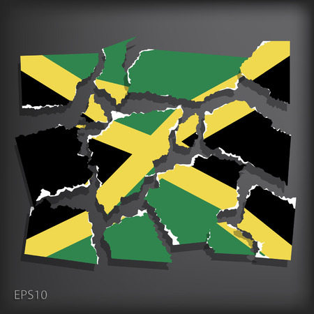 smashed paper: Jamaica