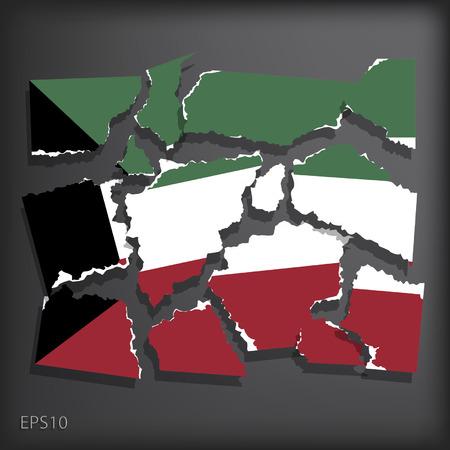 smashed paper: Kuwait