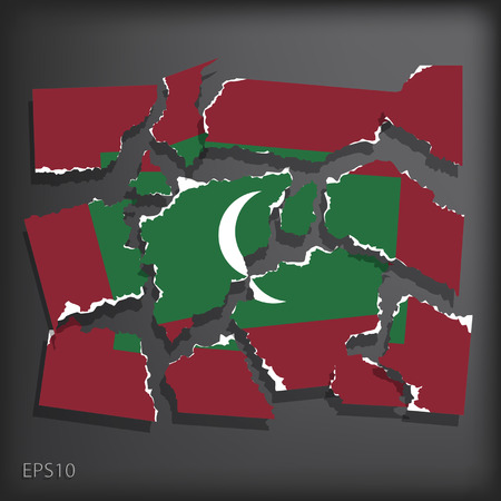 smashed paper: Maldives