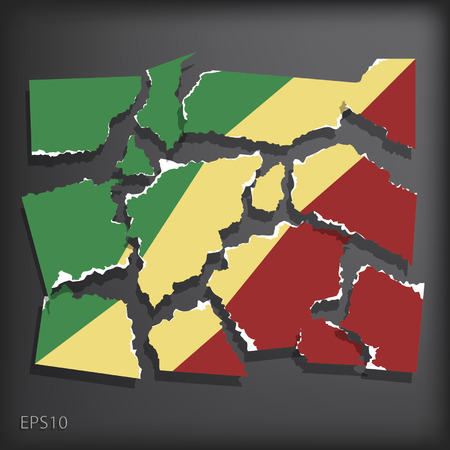 smashed paper: Republic of Congo