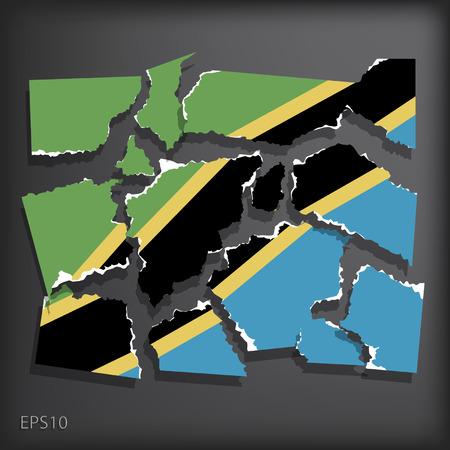 smashed paper: Tanzania