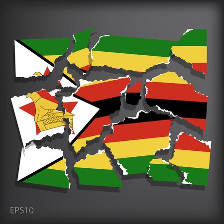 smashed paper: Zimbabwe