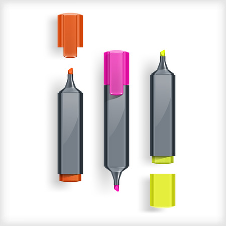Markers Illustration Vector