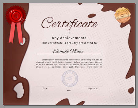 certificate border: Gift certificate Illustration