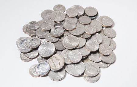 silver coins: Nickels and Dimes