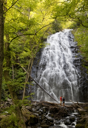 Crabtree Falls off the Blue Ridge Parkway in Western North Carolina photo