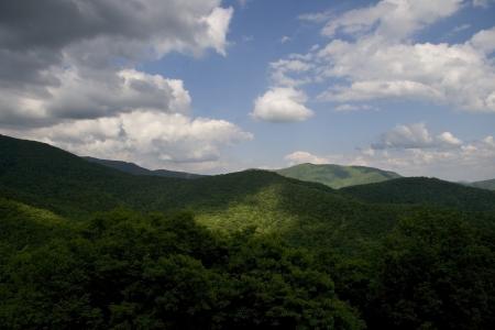 Summer vista on the Blue Ridge Parkway Stock Photo - 18013314