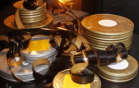 A still life of old film